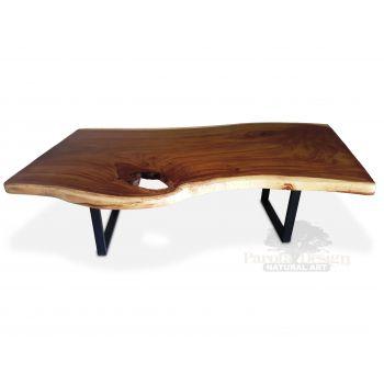 MESA DE PAROTA IRREGULAR CON PATAS MODELO BSICO  madera