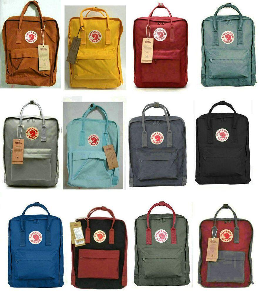Waterproof Backpack Fjallraven Kanken School Handbag Travel Bag 7L 16L 20L Pink