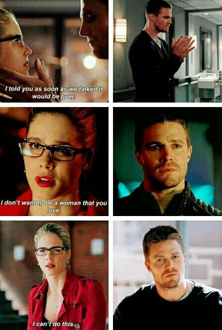Arrow - Oliver & Felicity #Olicity These parallels are killing me :(