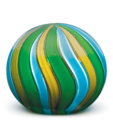 Look what I found on #zulily! Aqua Stripes Stripe Glass Paperweight by Dynasty Gallery #zulilyfinds
