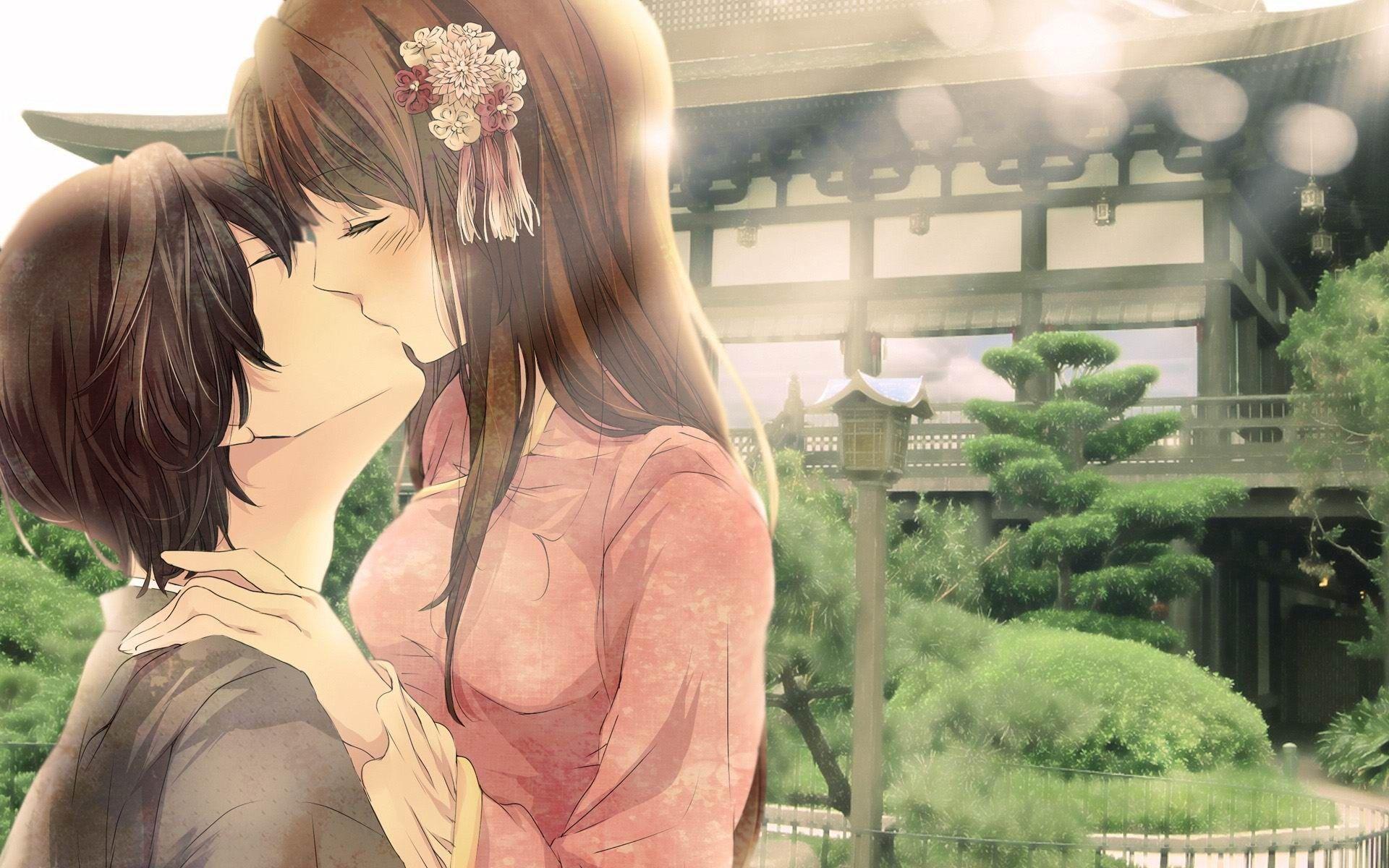 So Cute Anime Love Couple Romantic Anime Anime Couple Kiss