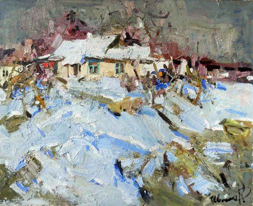 """Ruslan Ivashenko At The End Of Winter Oil on canvas 40""""X32"""" (100x80 Cm) $2500 For more information about this artist visit www.silvanagallery.comSee More"""