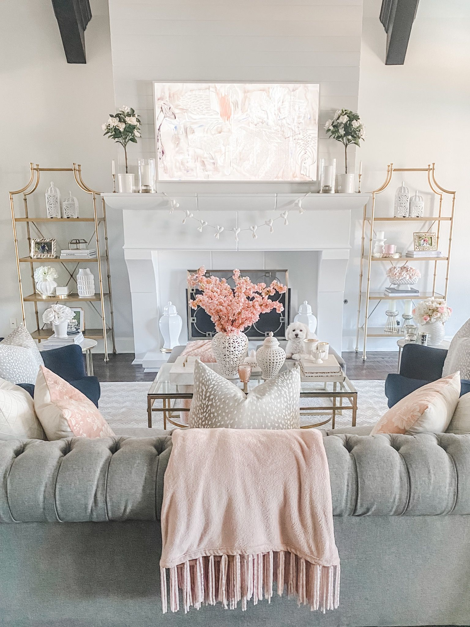 Blush And White Living Room Pink Living Room Decor Living Room Decor Gray Beige And Grey Living Room Living room uk meaning