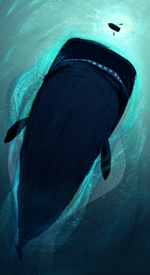 The Whale. Would be a cool art project. Looking at things from a different perspective.