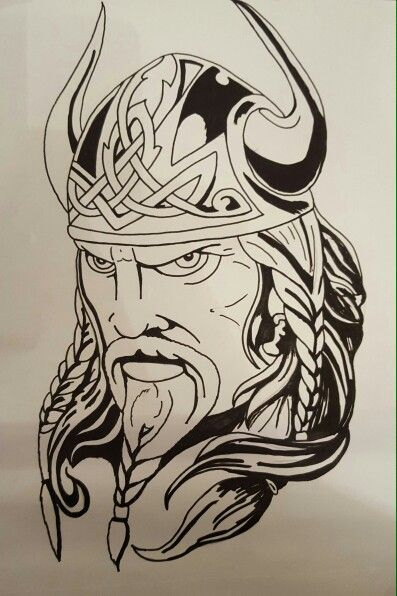 Wikinger: | Viking tattoos, Viking tattoo design, Viking ...