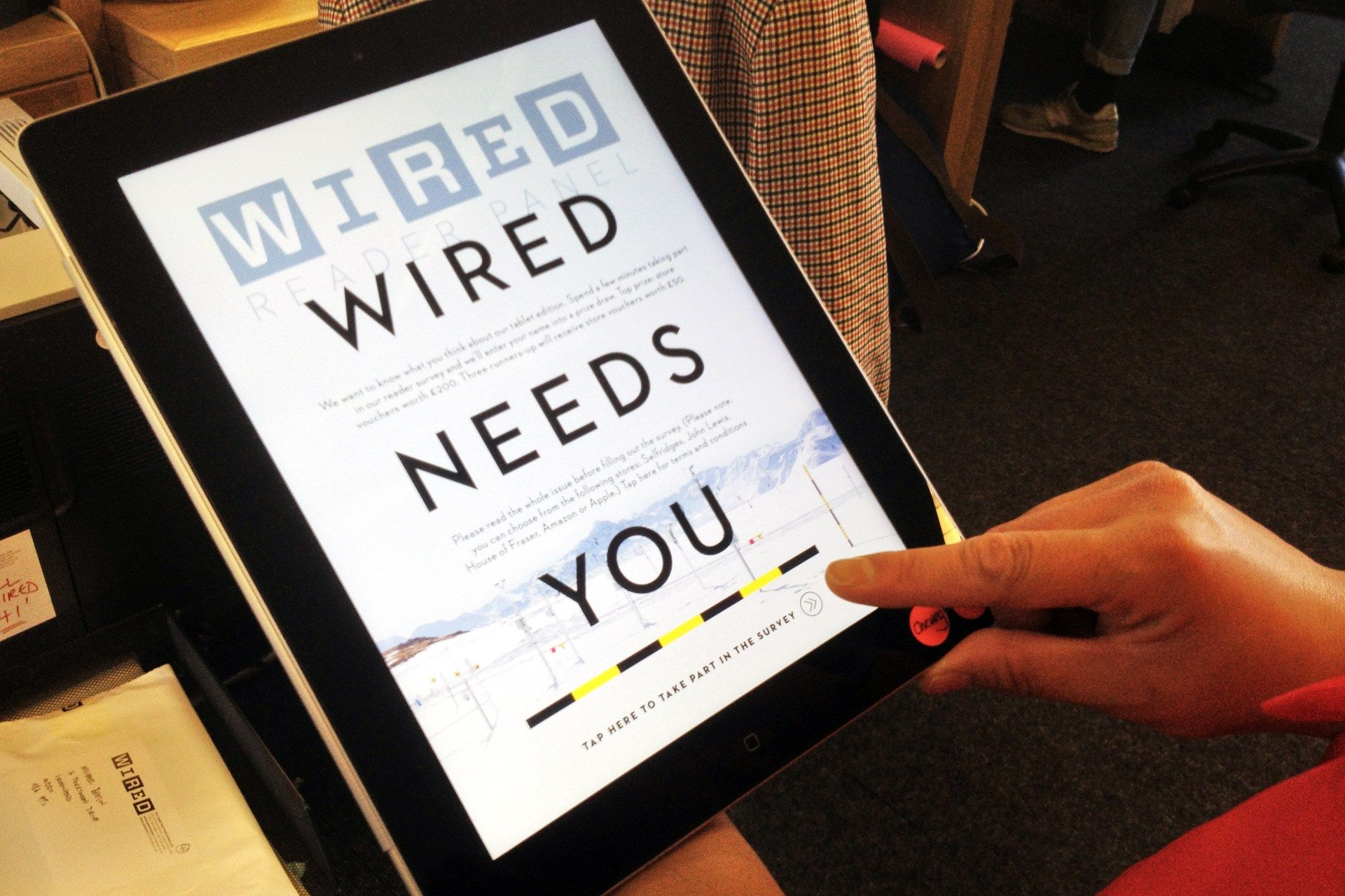 Wired iPad reader? Win £200 with our quick survey... 26 APRIL 13 by ...