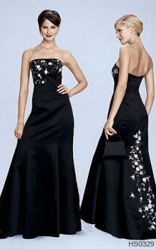Black A-Line/Princess Strapless Empire Long/Floor-length Sleeveless Satin Prom Dresses Dress