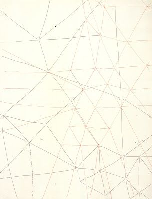 """Gego, """"Sin Titulo (untitled)"""", 1970, from the book """"Twice Drawn, Modern and Contemporary Drawings in Context""""."""
