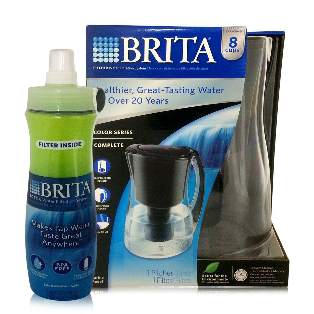 Brita marina water filter pitcher water filter bottle