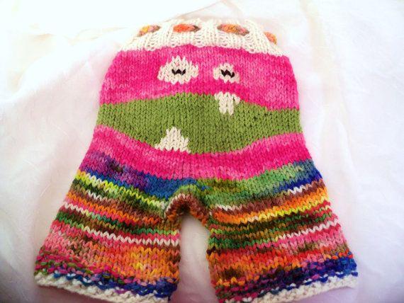 Monster  Zombie Pants Longies Wool Knit by WildernessSerenity, $55.00