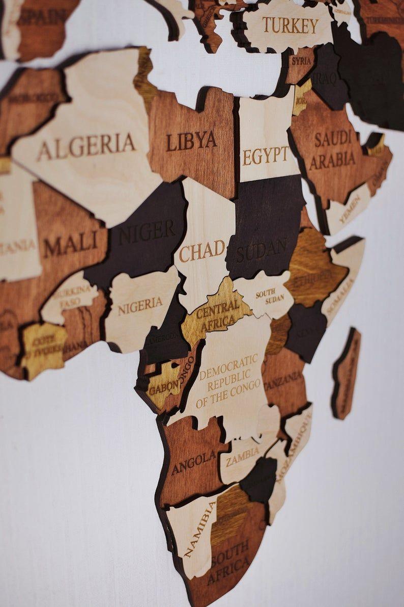 World Map Wooden Map Wood Wall Art Wooden Wall Decor Push Pin Etsy Wood World Map Wooden Map Wood Map