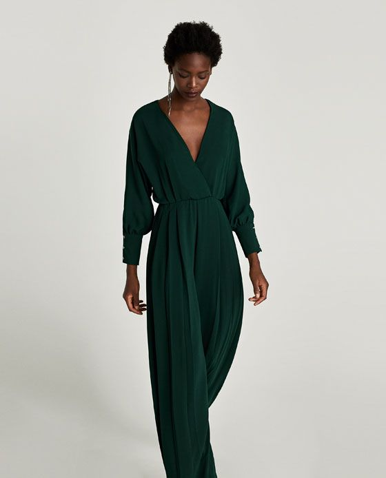 c47291dd101 Image 2 of LONG CROSSOVER JUMPSUIT from Zara