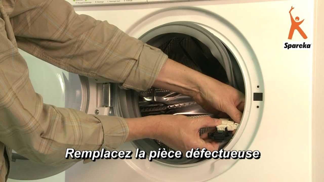 Remplacer La Securite De Porte De Son Lave Linge La Video Lave Linge Machine A Laver Comment Reparer