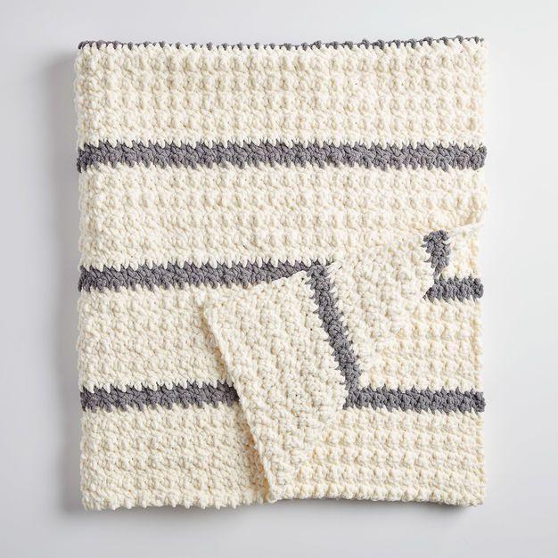 Bernat Pin Stripe Crochet Blanket | crochet afghans | Pinterest