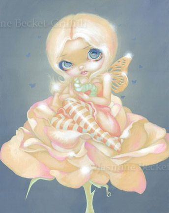 Rose Fairy:  The Sick Rose by Jasmine Becket-Griffith Big Eyed Art