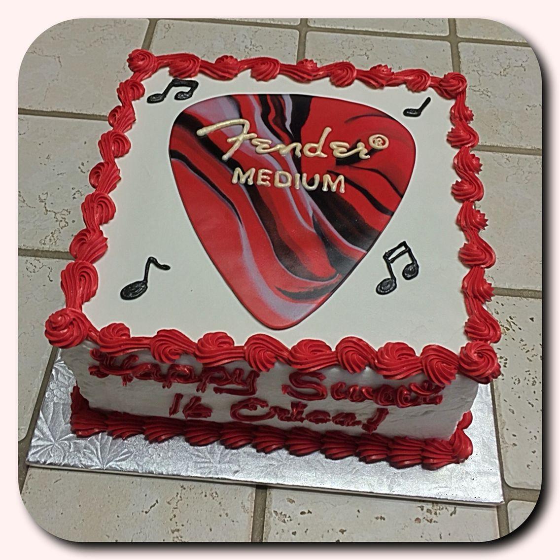 fender guitar pick cake music related cakes in 2019 guitar cake birthday cake cake. Black Bedroom Furniture Sets. Home Design Ideas