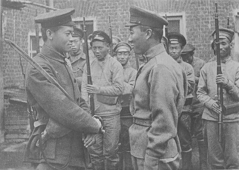 Chinese soldiers in Far East during the Russian civil war, 1921 near Blagoveshensk