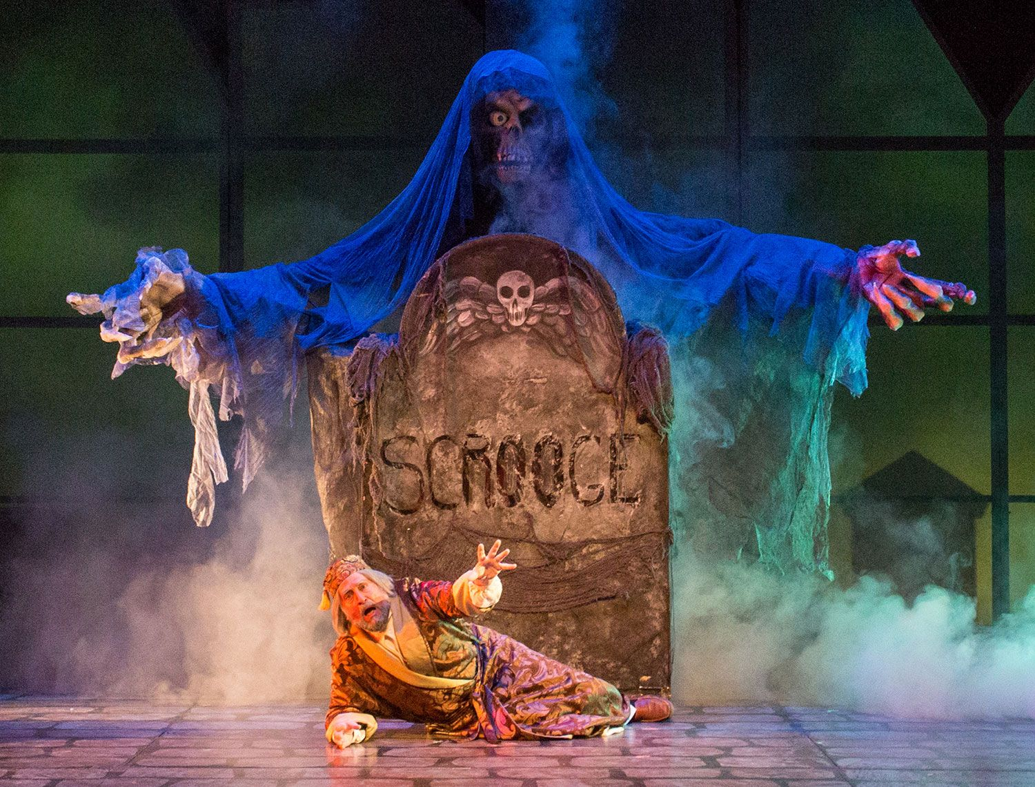 Ghost of Christmas Yet to Come, Christmas Carol National Tour. photo by Leslie Cothran ...