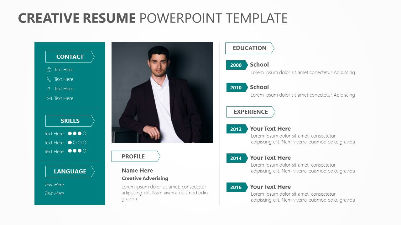Creative Resume PowerPoint Template Creative resume