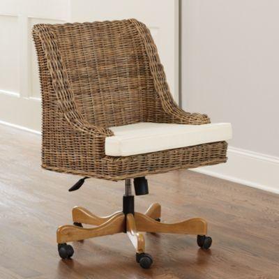 Chastain Woven Desk Chair | Ballard Designs