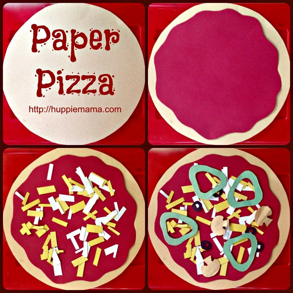 Kids Food Craft Paper Pizza