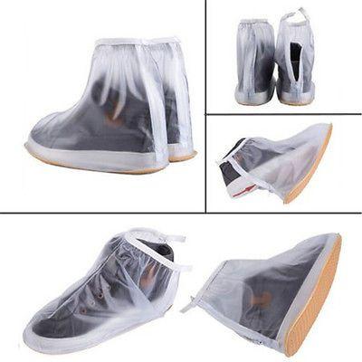 Reusable Waterproof Rain Shoes Cover Anti Slip Rain Boot Flat