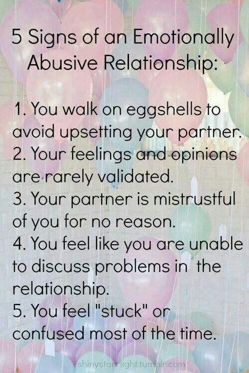 Emotionally and psychologically abusive relationship