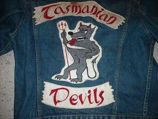 Tasmanian Devils Biker Gang Club Color Biker Clubs