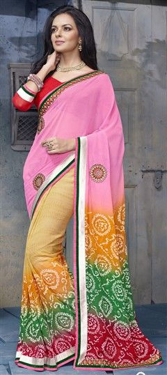 abc8f4eb74 Bandhej Sarees - Shop for exotic range of Bandhani Sarees online. Check out  the latest designs in Jaipuri Bandhej Silk Sarees with free shipping all  over ...