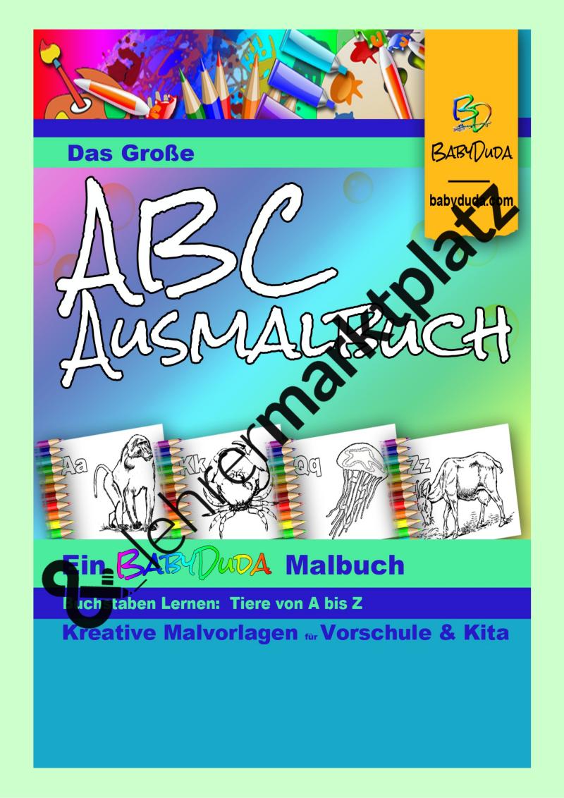 Das große ABC-Ausmalbuch TIERE von A bis Z