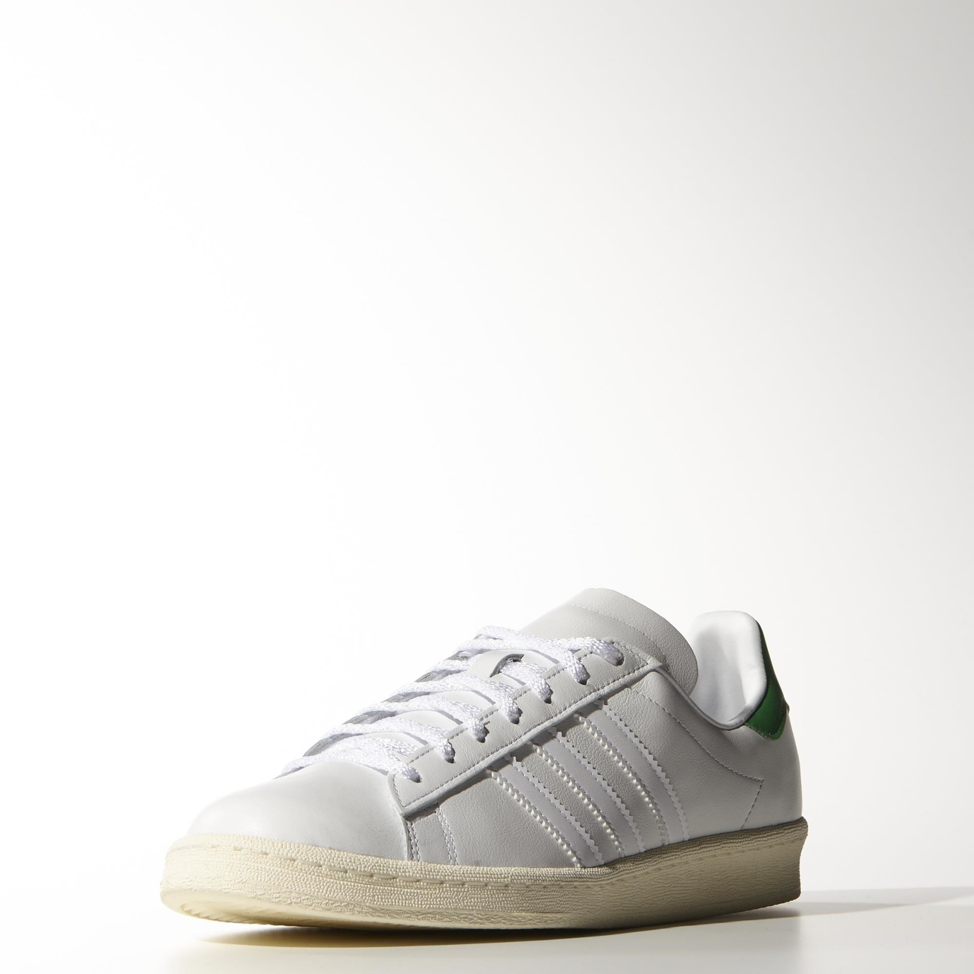 2ea492bd639536 adidas - Campus 80s Nigo Shoes Ftwr White   Green   Cream White B33821