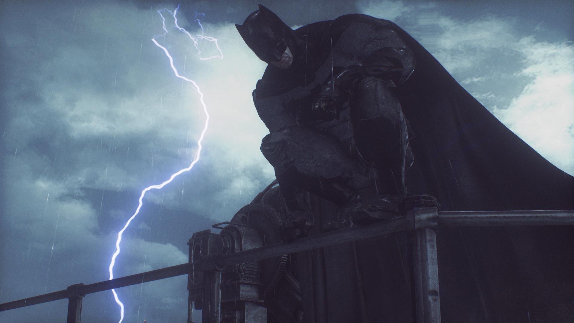 Accidentally getting a great shot in Arkham Knight (Batman v Superman Skin)