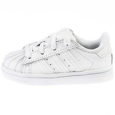 8e547d376ca9c1 ADIDAS SUPERSTAR FOUNDATION INFANT B23663 White Shell Shoes Toddler Baby  Size 5