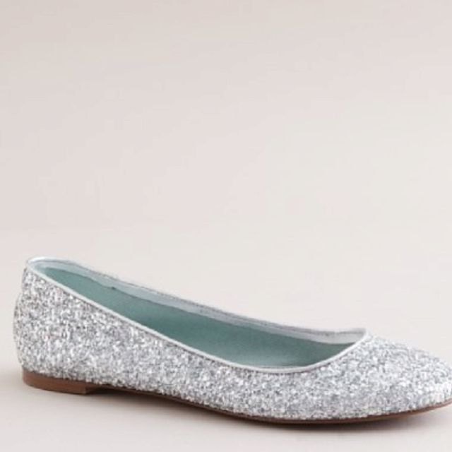 silver sparkly shoes flats