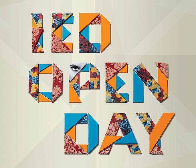 IED Open Day - lettering. #GraphicDesign #CorporateIdentity #Branding