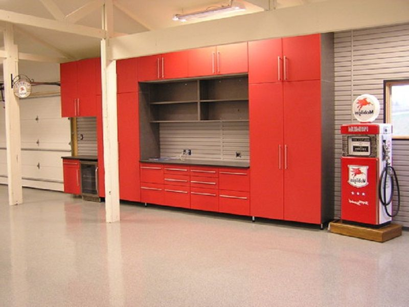 Man Cave Storage Cabinets : Man cave garage designs with horeb cabinets and