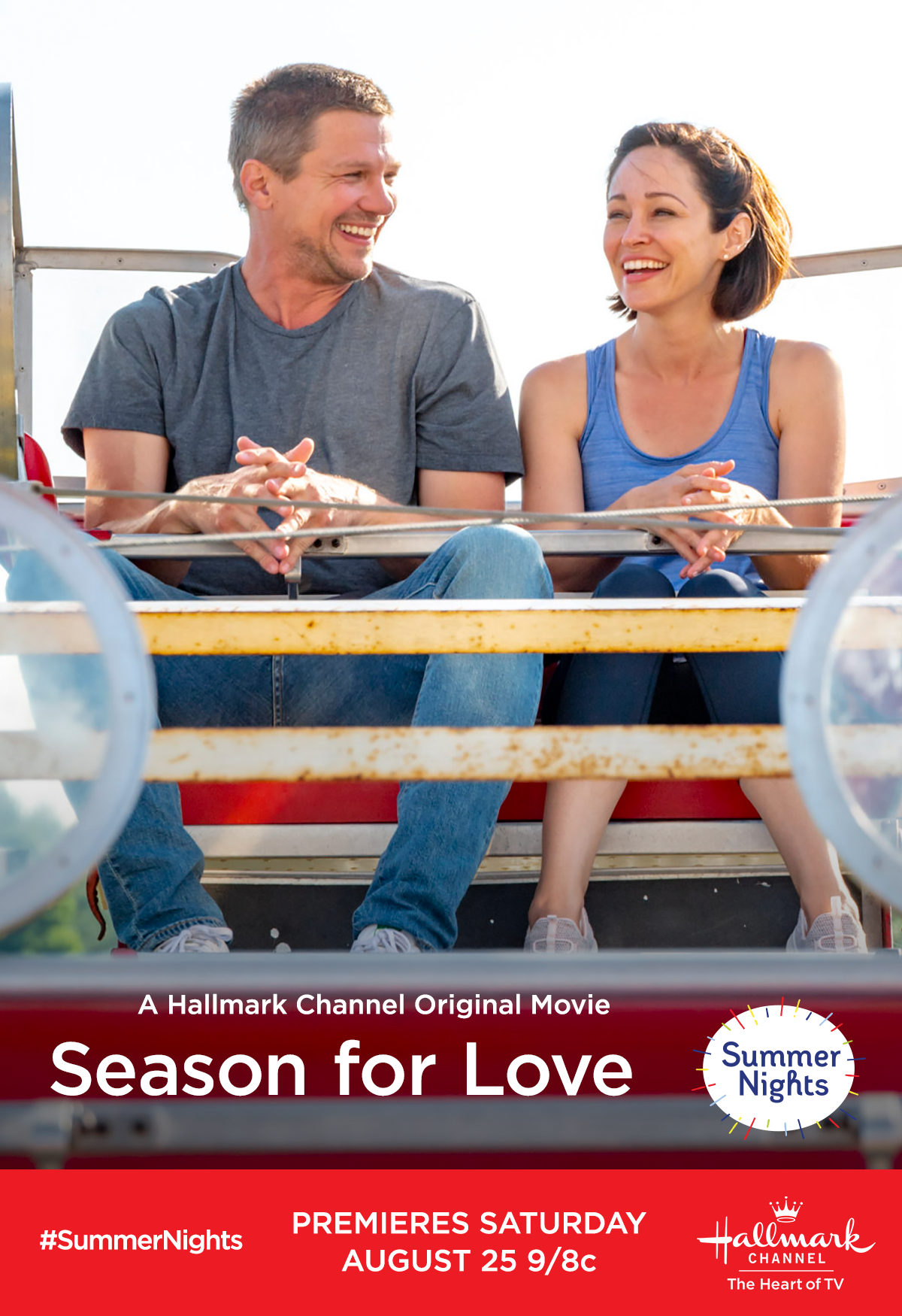 Autumn Reeser and Marc Blucas take a ride on the ferris wheel in ...