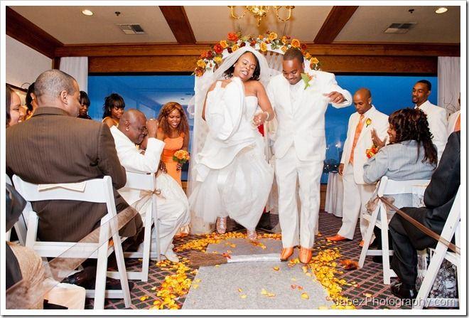 Wedding - jumping the broom