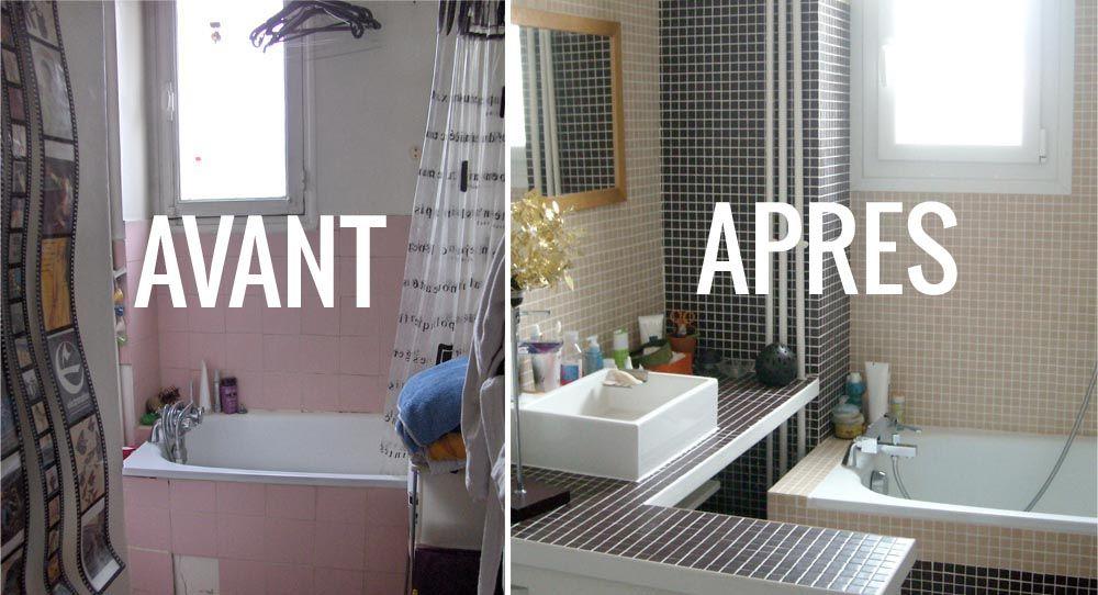 Après  Transformer un WC et un cabinet de toilette en une salle de - blanchir joint salle de bain