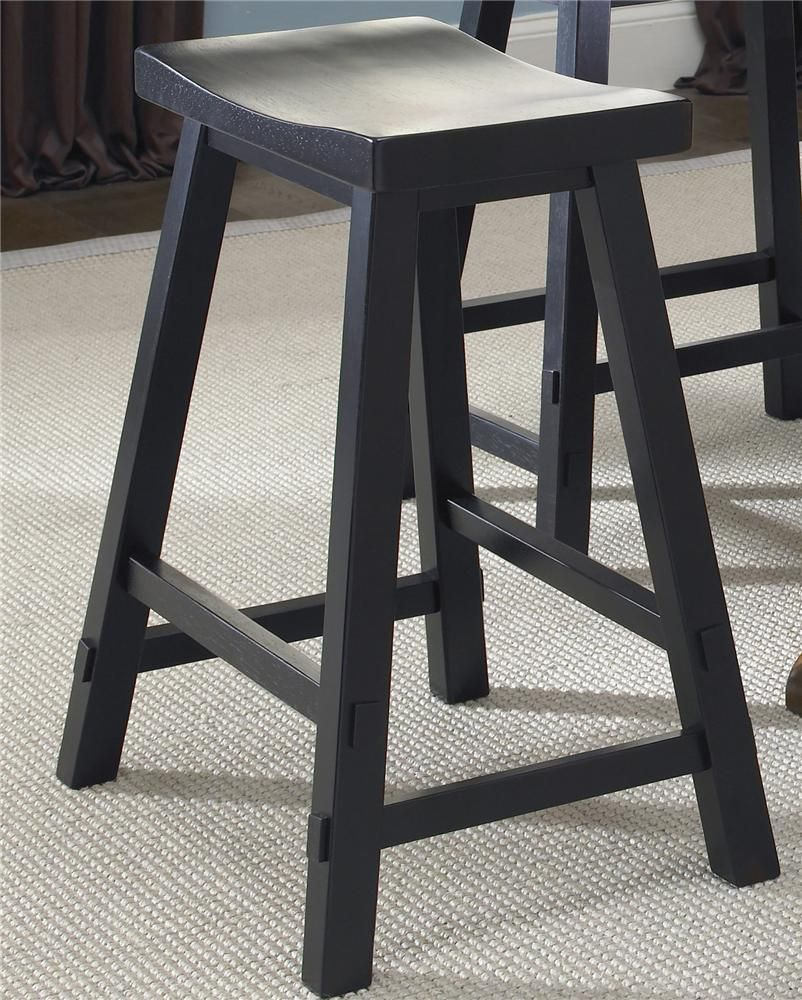 Creations Ii 24 Inch Sawhorse Barstool By Liberty Furniture Barebones Furniture Bar Stool Backless Bar Stools Liberty Furniture Bar Stools