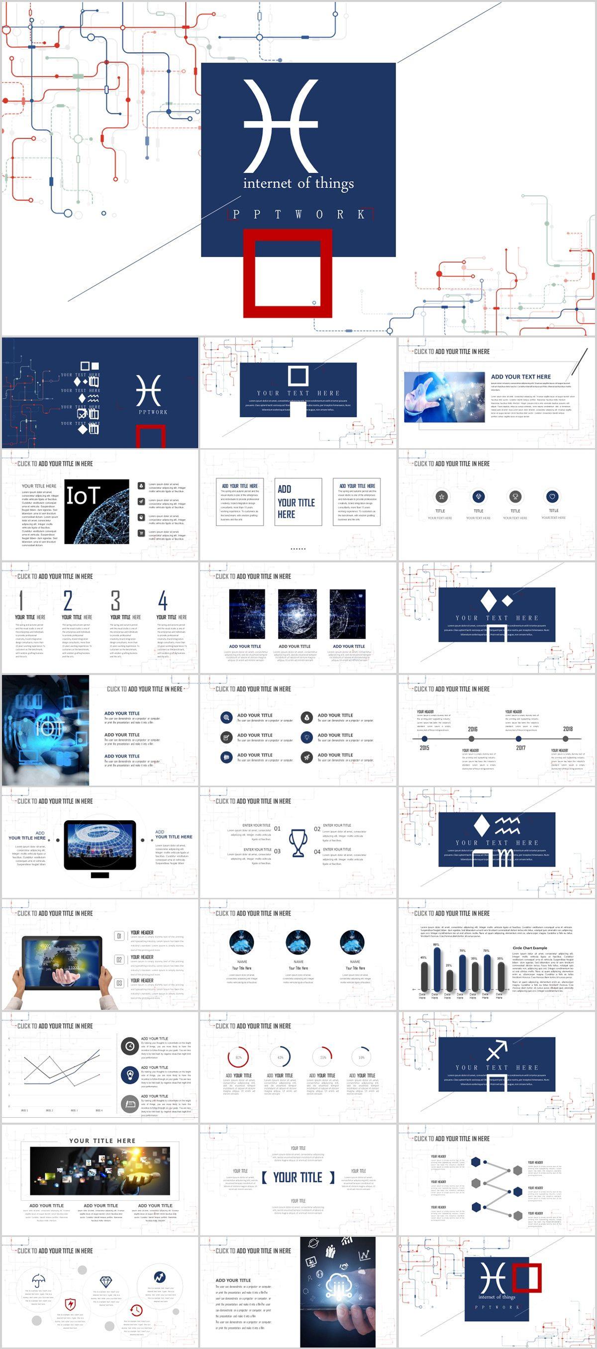 Best Internet Report Powerpoint Template Powerpoint