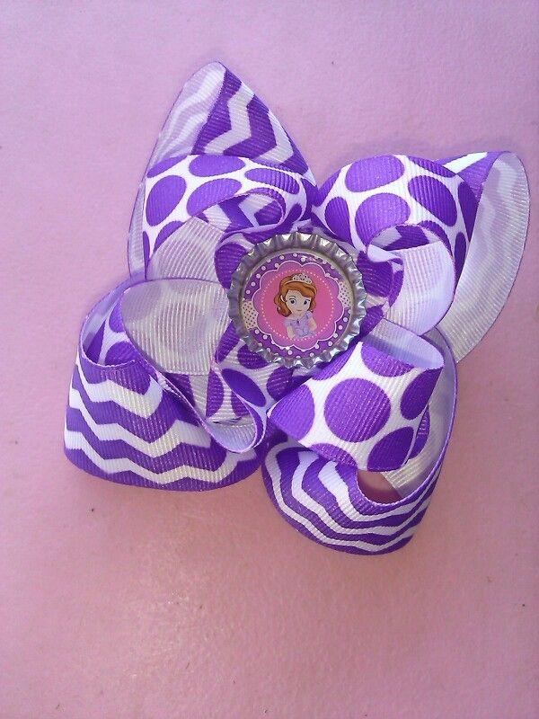 Purple Sofia bow!!