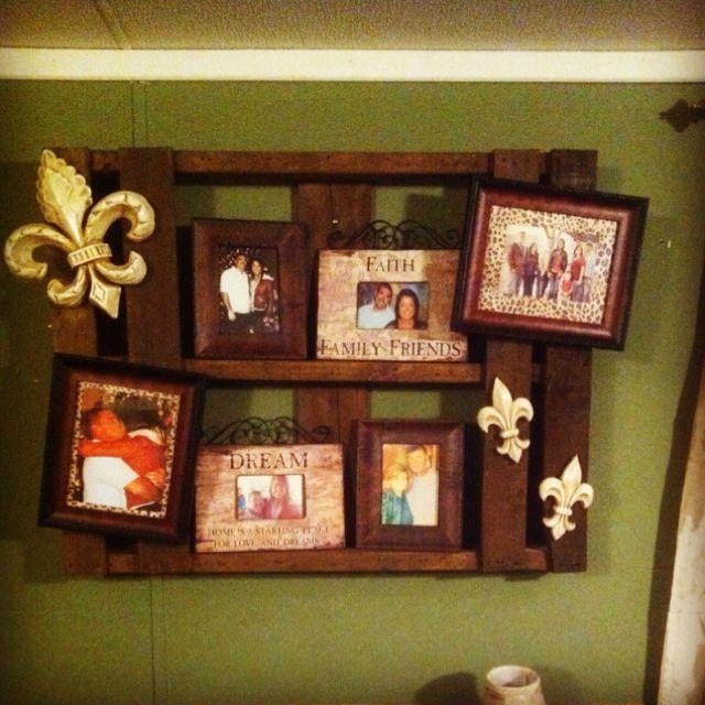 DIY Pallet Picture Frame Holder