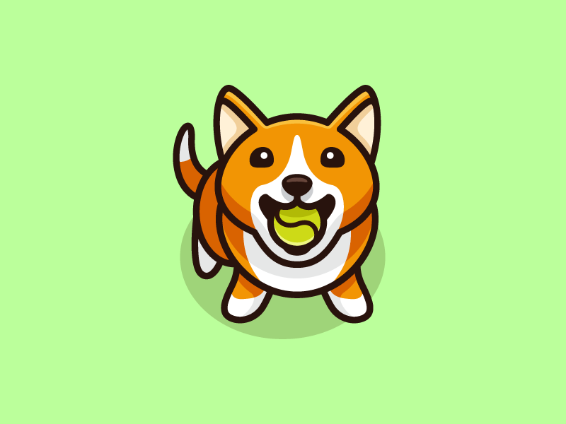 Dog Tennis Ball 03 Pet Logo Design Cute Cartoon Wallpapers Dog Drawing