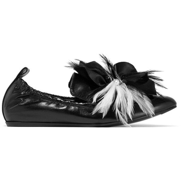 Glossed-Leather Loafers Lanvin OMBCPOKGEL