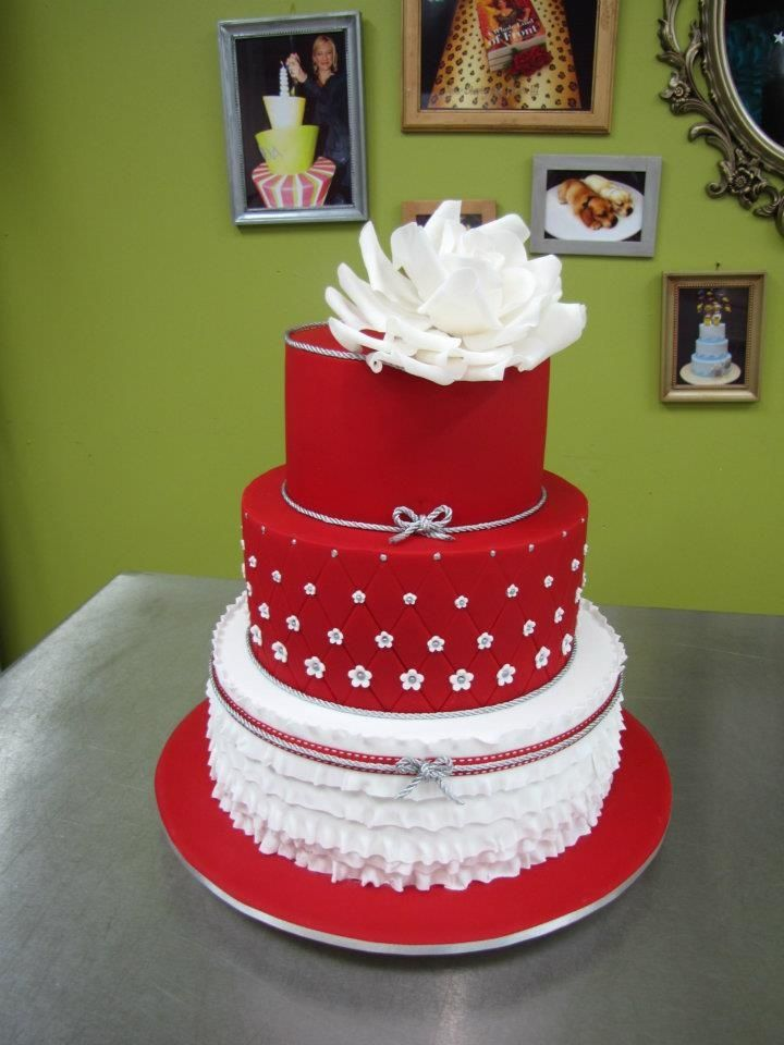 Red Wedding Cake Inspirations Ideas