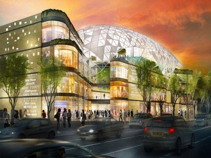 Un nouveau centre commercial l 39 allure d 39 un paquebot - Nouveau centre commercial roncq ...