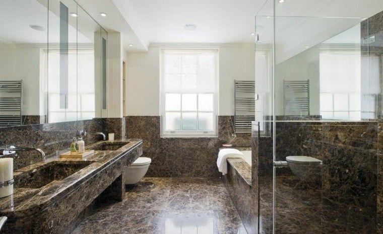 Cuartos de baño marmol lujoso en suelo y paredes Lujoso, Cuarto de