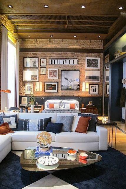 Interior Design of Warm Nuanced Modern Studio Apartment Studio