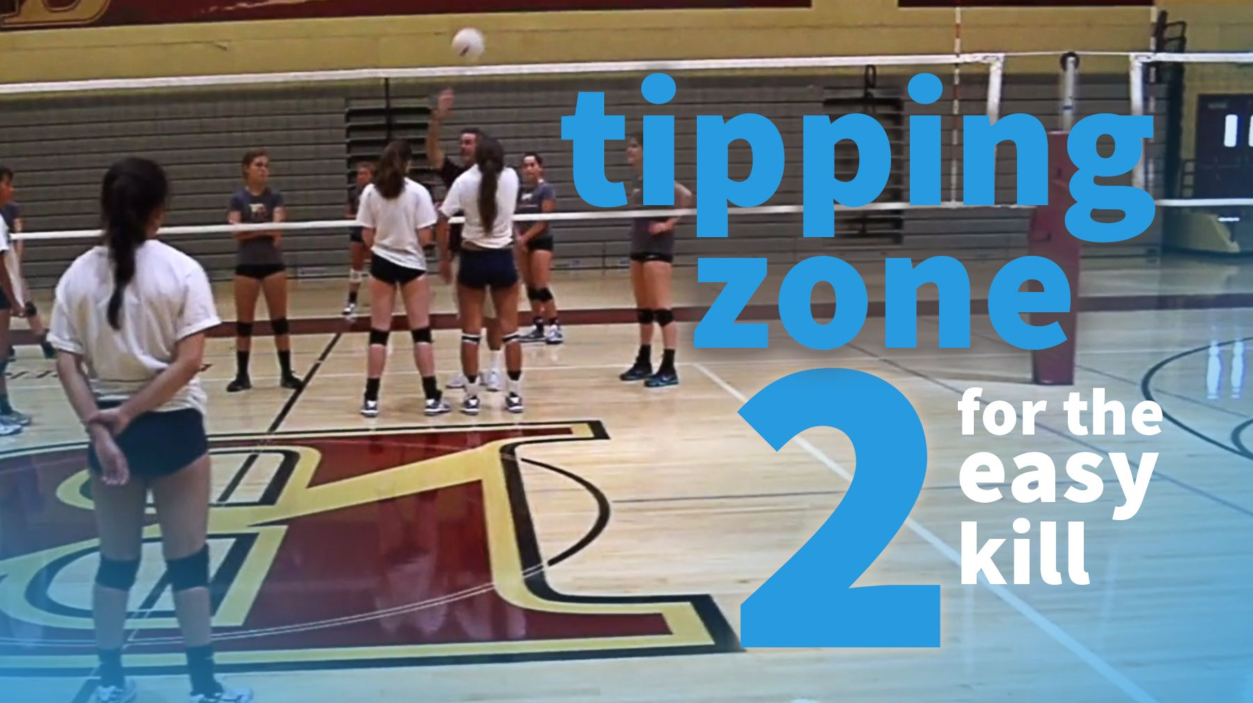 Strategy Tipping To Zone 2 Can Produce An Easy Kill Coaching Volleyball Volleyball Training Volleyball Skills